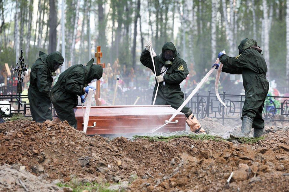 Похороны пациентов, умерших от коронавируса