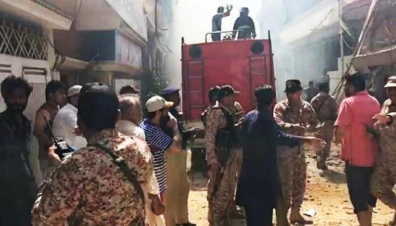 Крушение самолета в Пакистане