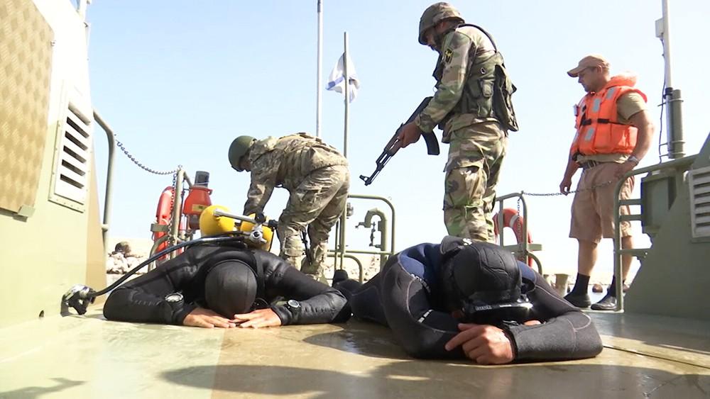 Учения в порту в Сирии