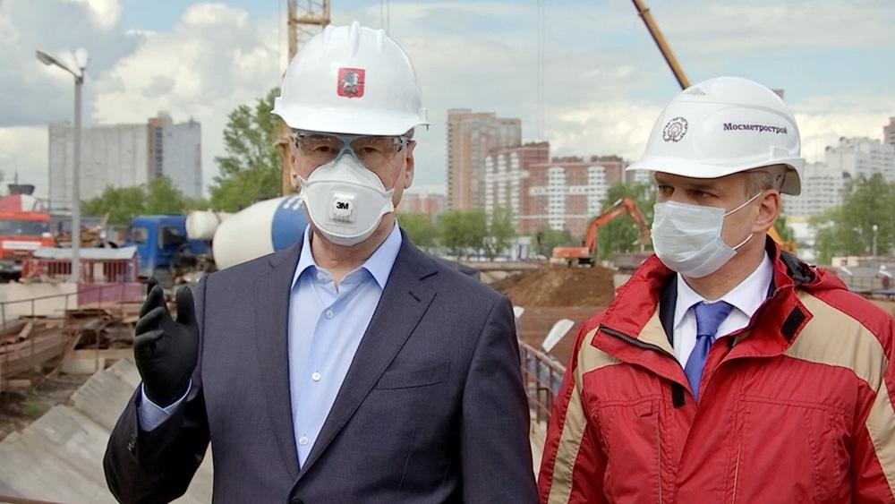 Сергей Собянин осмотрел ход строительства метро