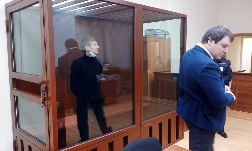 Алексей Барышников, обвиняемый в захвате заложников в отделении банка