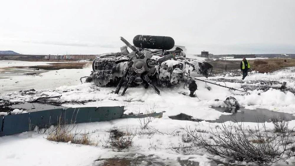 Последствия крушения Ми-8