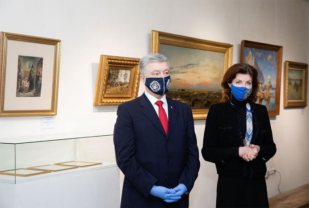 Пётр Порошенко с женой в музее