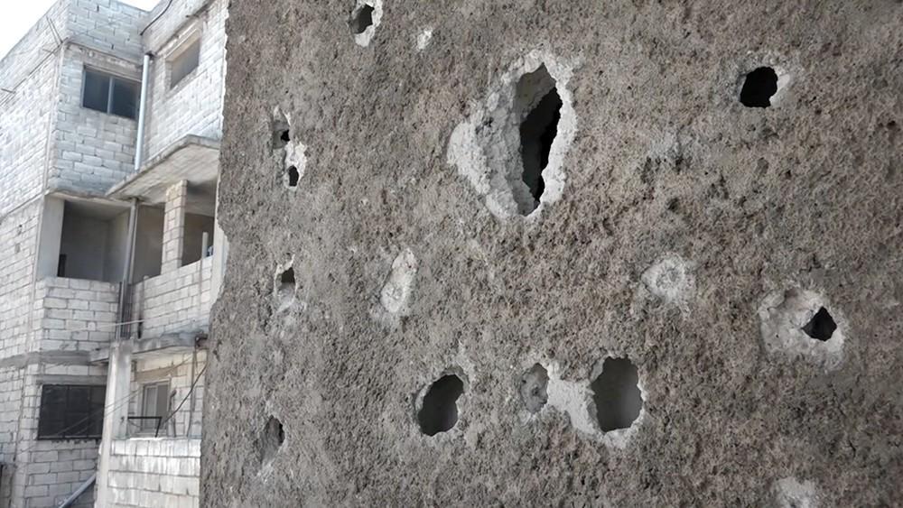 Полуразрушенная боевиками школа в Сирии