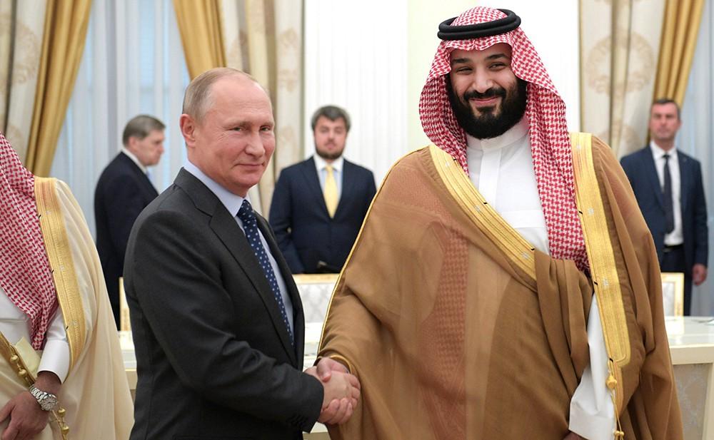 Владимир Путин и Мухаммед бен Сальман