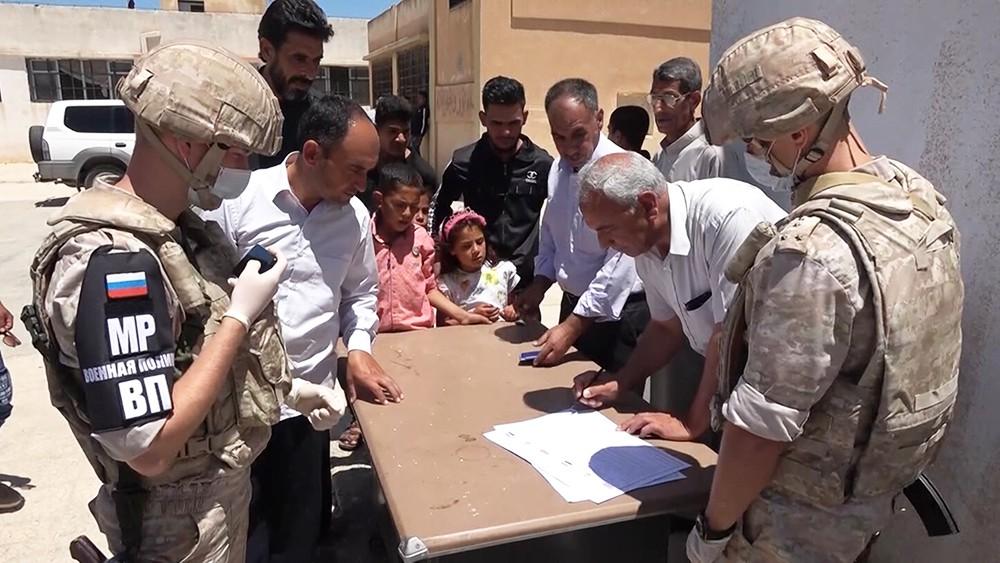 Гуманитарный груз для Сирии