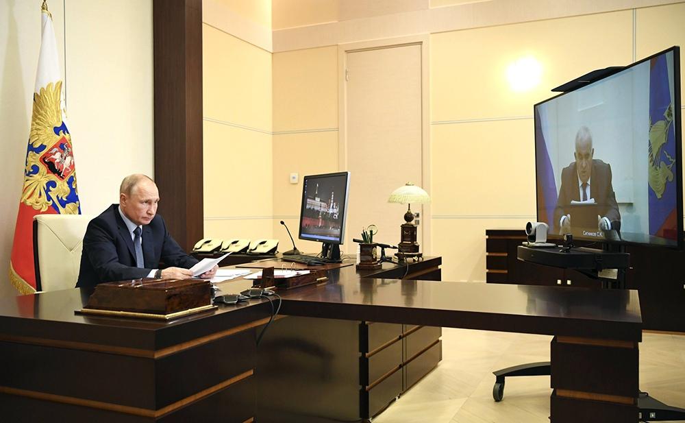 Владимир Путин и Сергей Ситников