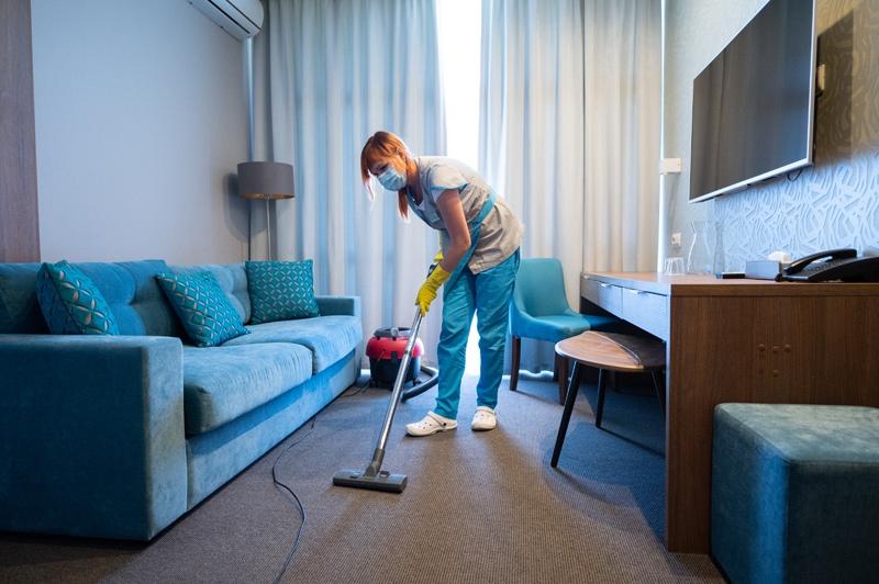 Уборка номера отеля