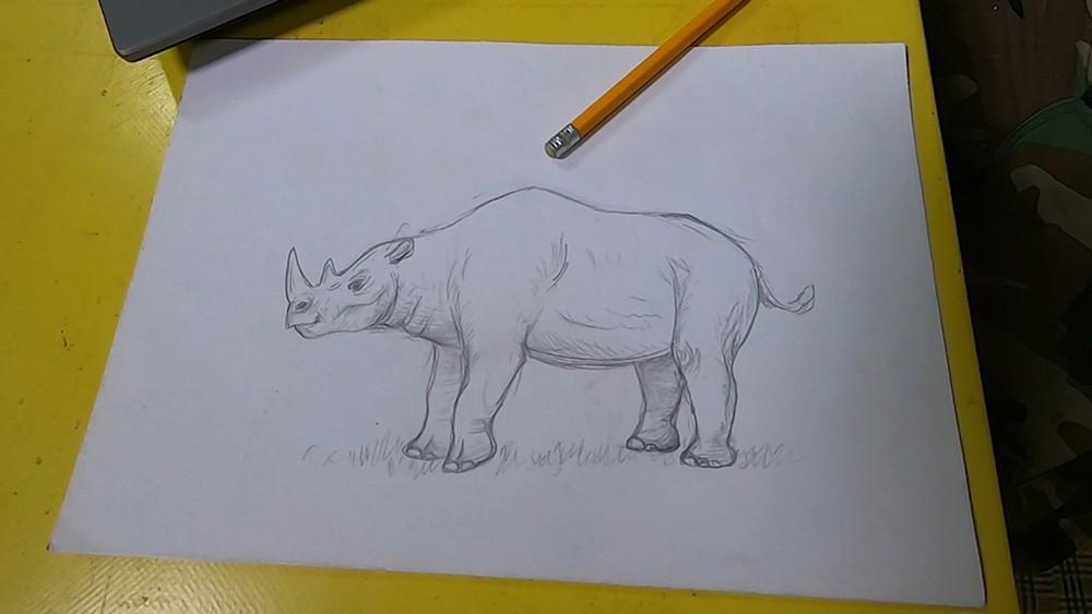 Рисунок древнего животного