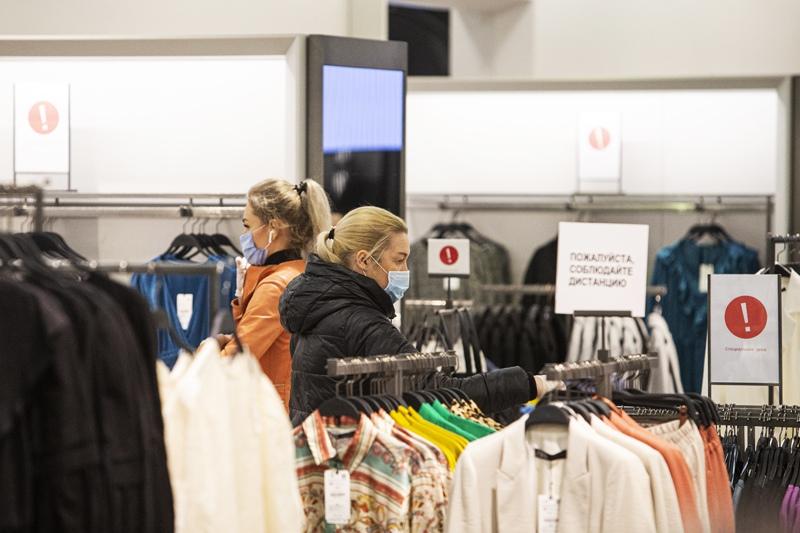 Посетители в торговом центре