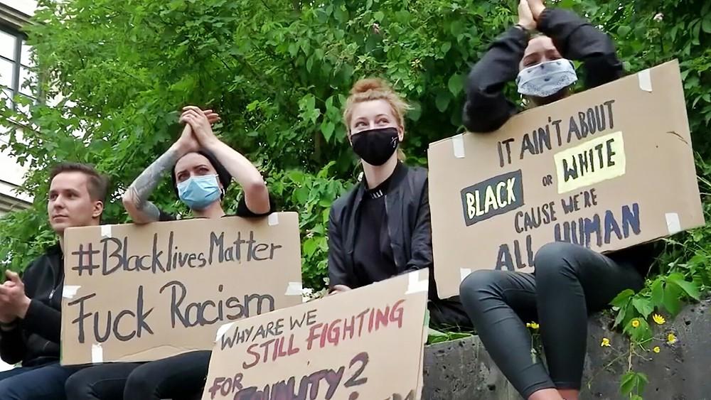 Митинг против расовой дискриминации