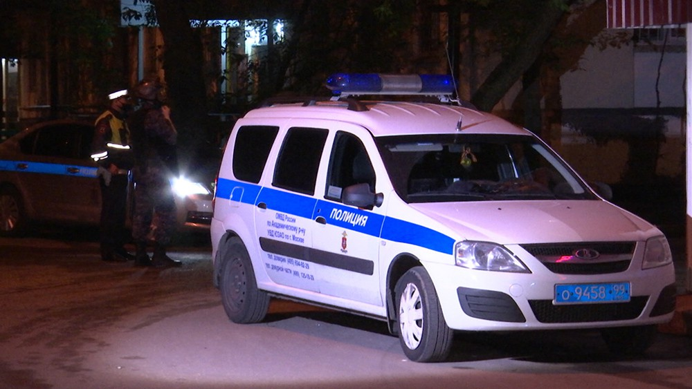 Полиция на месте проишсествия в Москве