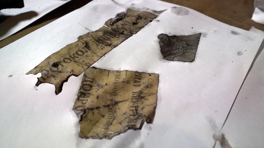 Восстановление документов из найденного сейфа времен войны