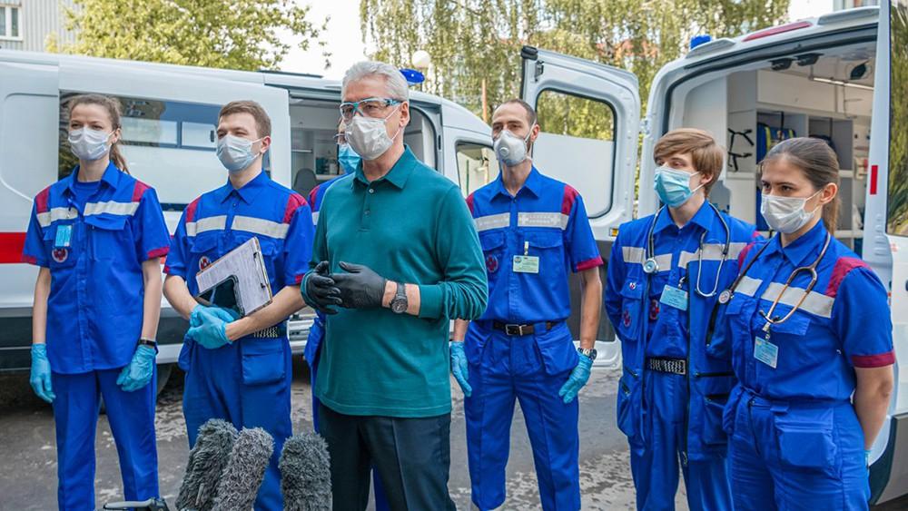 Сергей Собянин и врачи скорой помощи