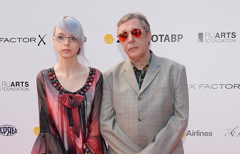 Актер Михаил Ефремов с дочерью Анной Марией