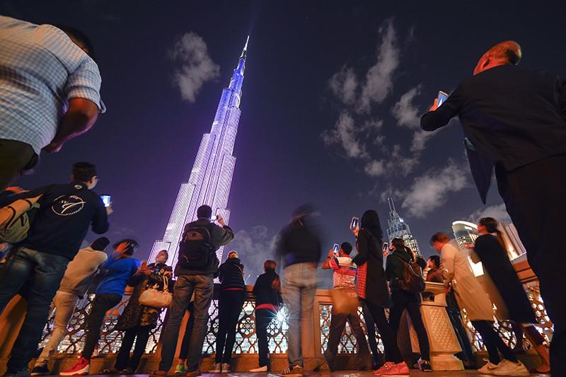 Небоскреб Бурдж-Халифа в Дубае