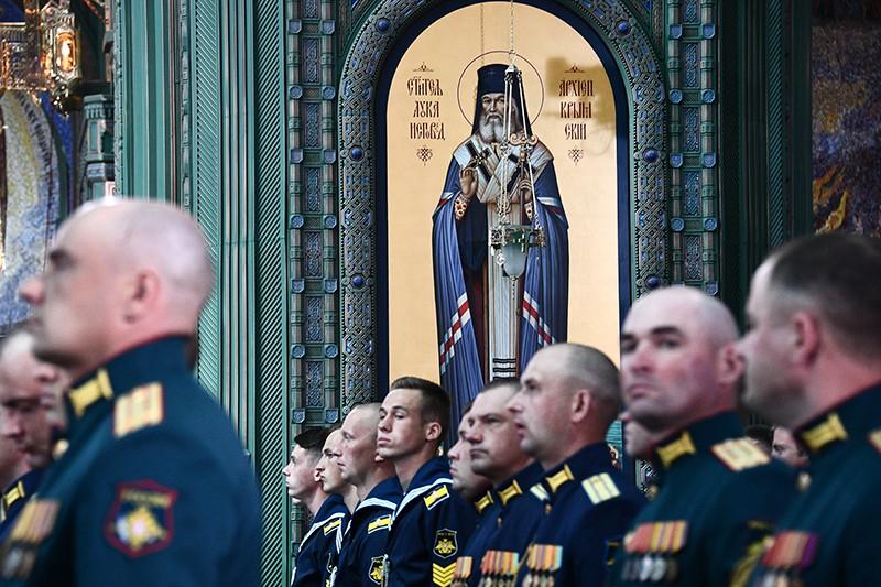 Открытие главном храме Вооружённых сил