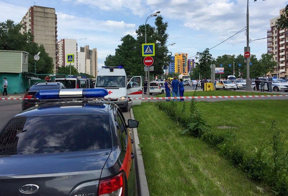 На месте стрельбы на Ленинском проспекте