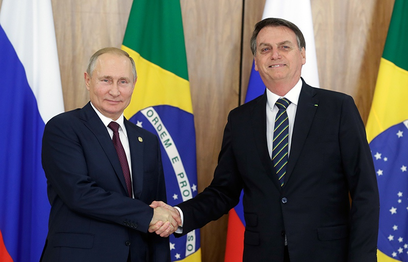 Владимир Путин и президент Бразилии Жаир Болсонару