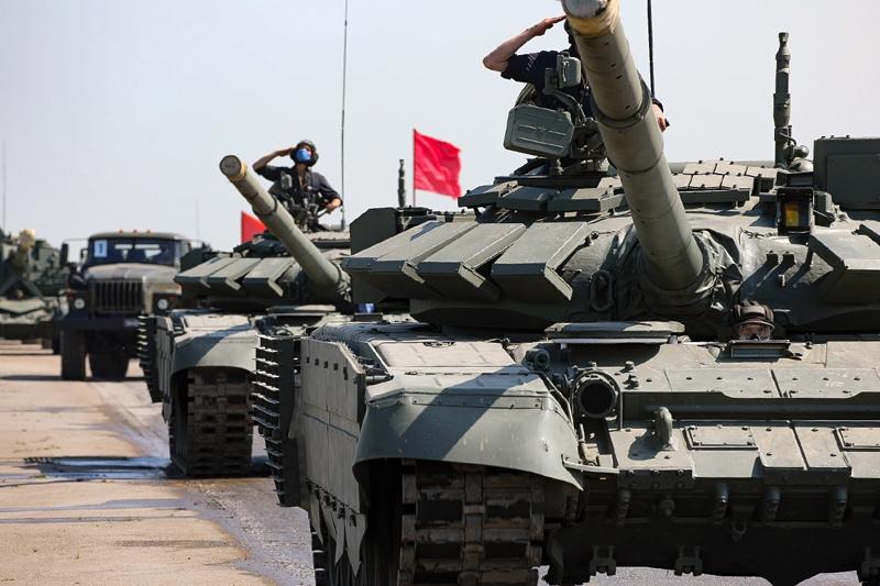 Подготовка военной техники к Параду Победы