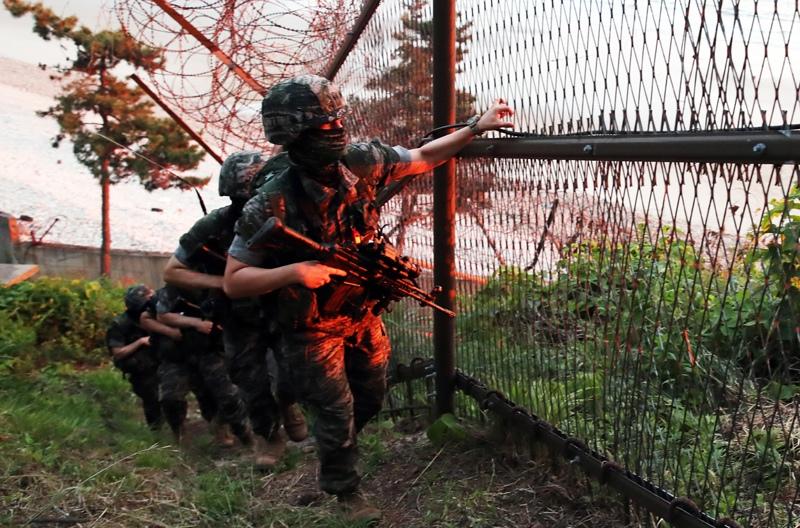 Ситуация в южнокорейском Пхаджу на границе с КНДР