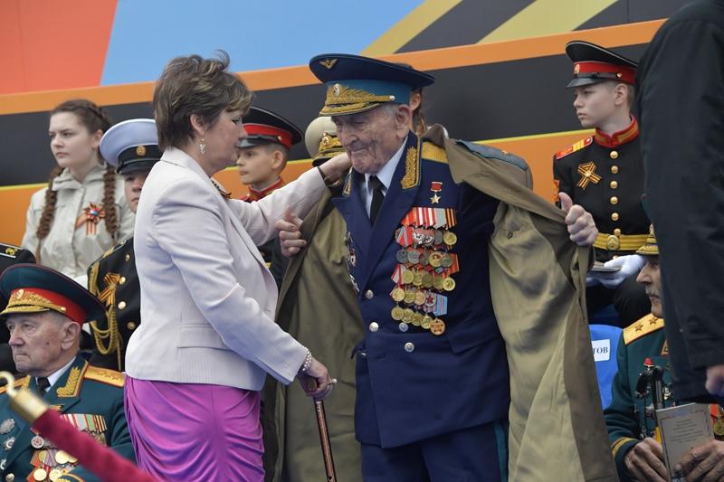 Ветераны Великой Отечественной войны на параде Победы