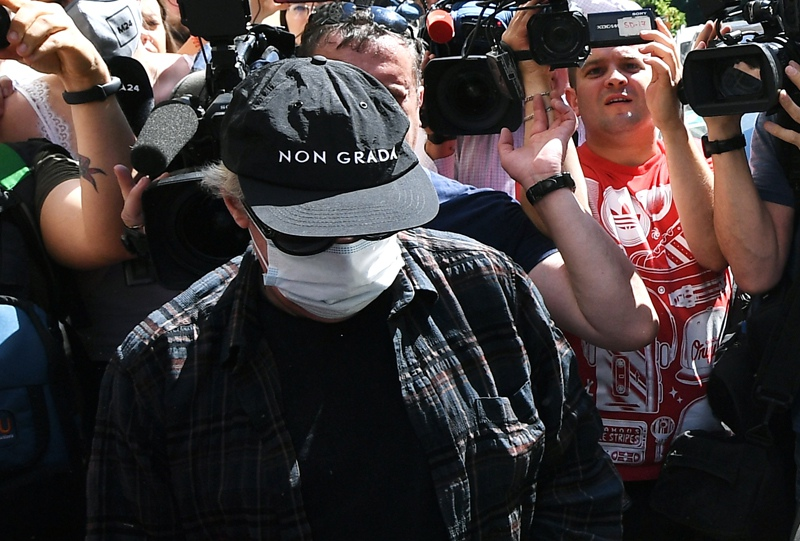 Актёр Михаил Ефремов, вызванный на допрос по делу о ДТП