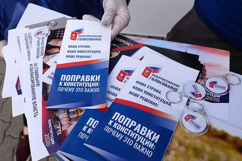 Волонтеры начали информировать граждан о поправках в Конституцию