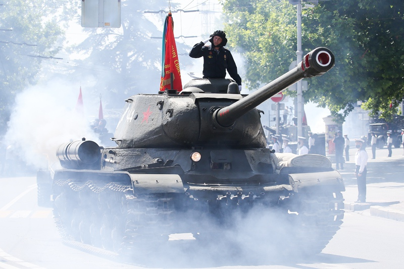 Генеральная репетиция парада, посвященного 75-летию Победы, в Севастополе