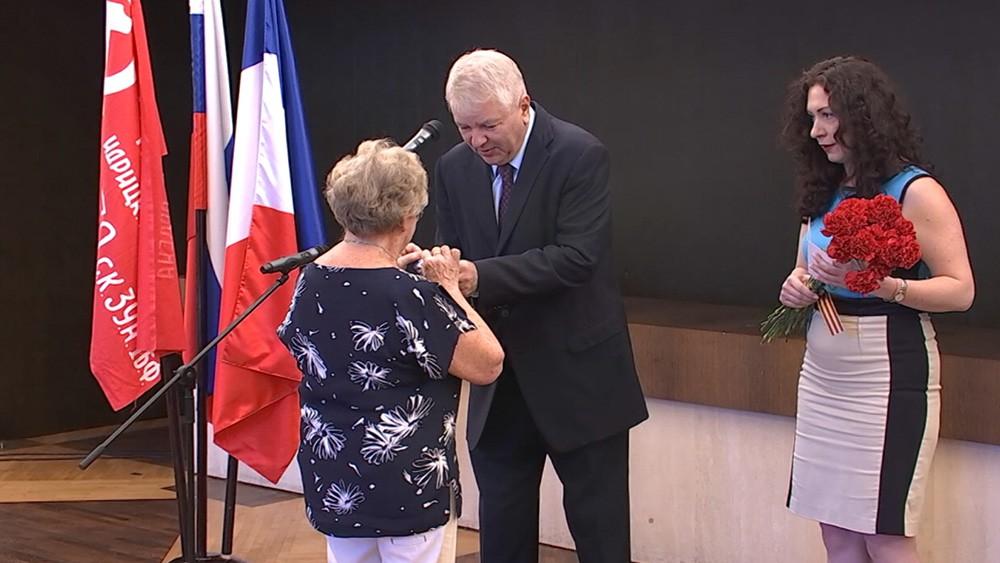 Вручение медалей блокадницам живущим во Франции