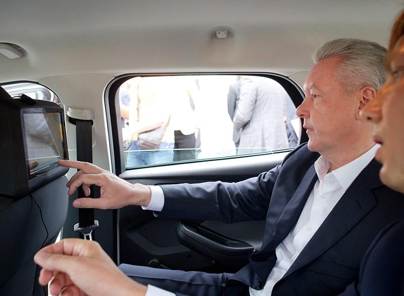 Сергей Собянин в автомобиле