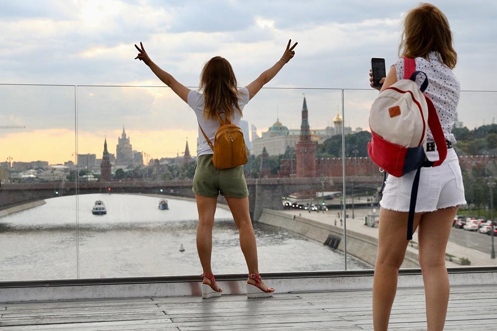 Отдыхающие в Москве
