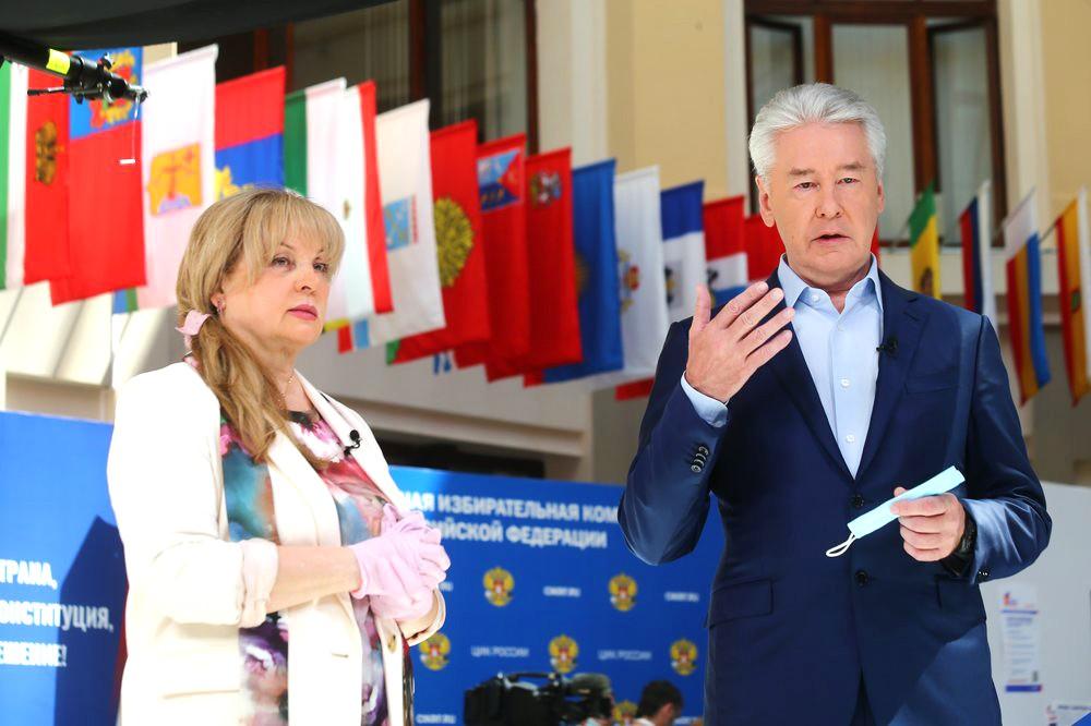 Элла Памфилова и Сергей Собянин