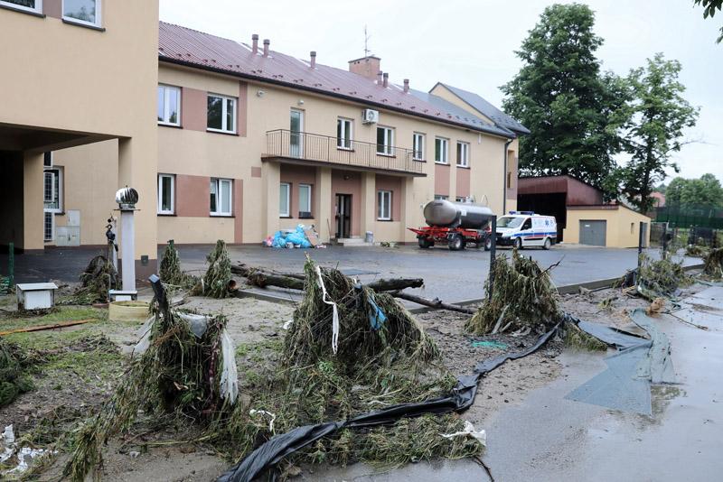 Ливневые дожди в Польше