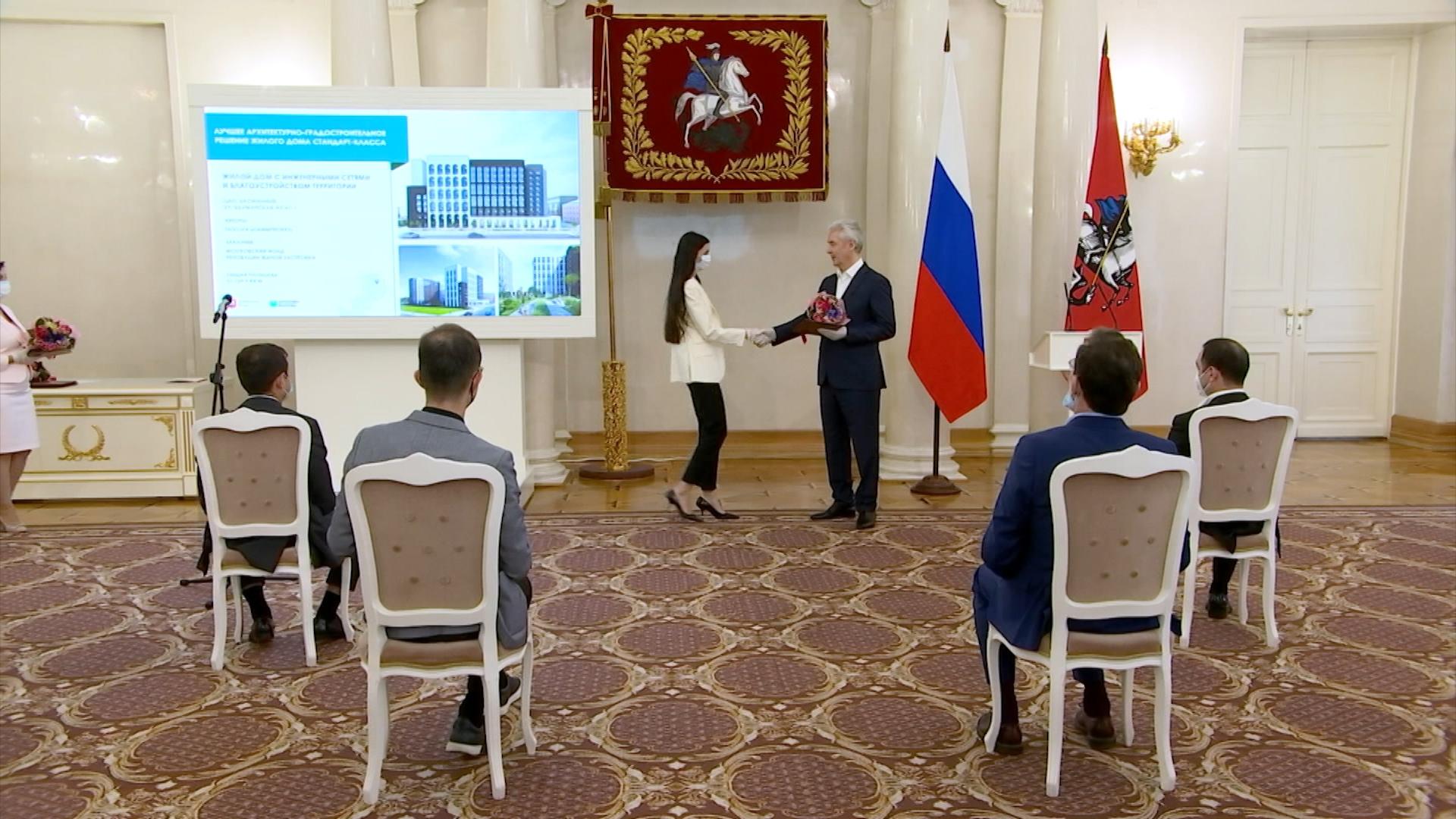 Сергей Собянин во время вручения премий архитекторам