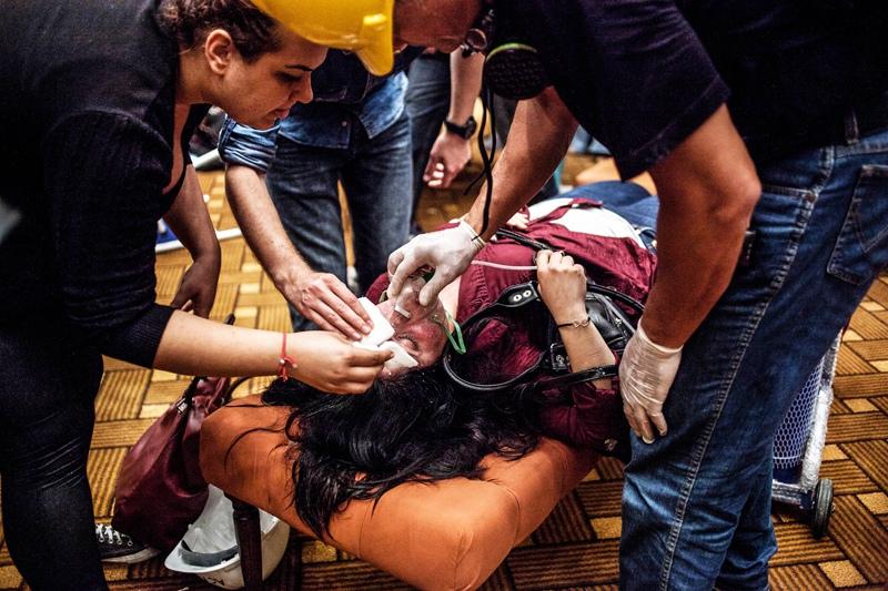 Пострадавшие в результате взрыва в Турции