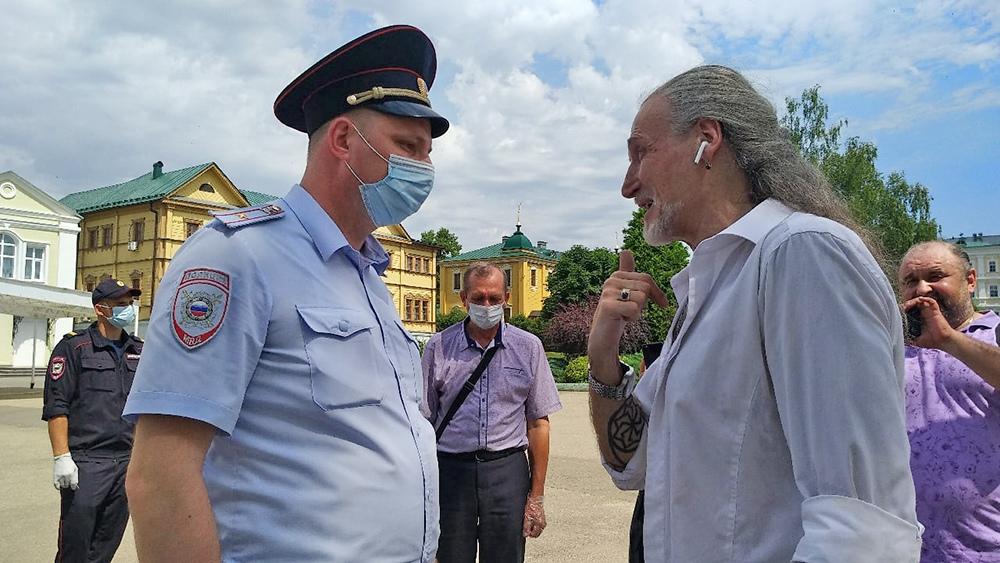 Никита Джигурда и полиция