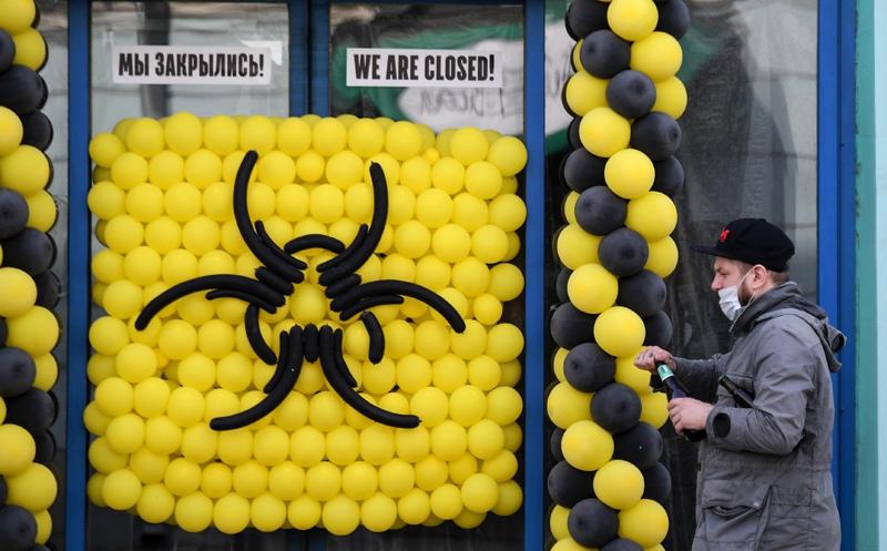 Кафе в Москве, закрытого из-за ограничительных мер