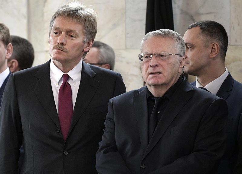 Дмитрий Песков и Владимир Жириновский