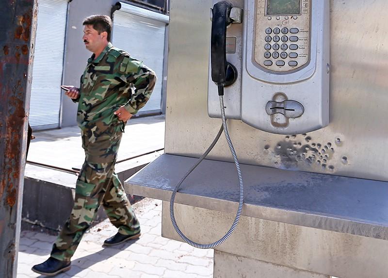 Телефонный автомат в Сирии