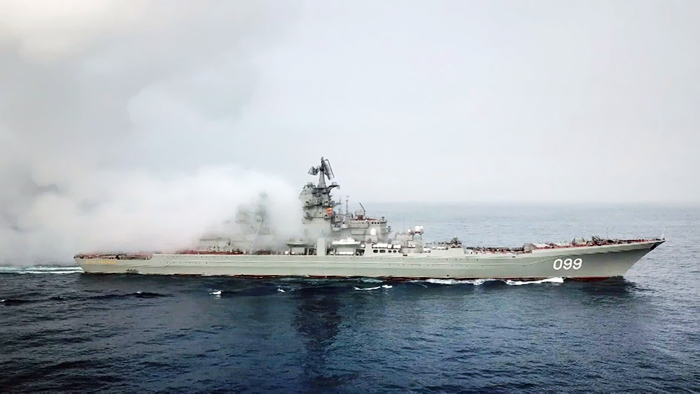 """Атомный ракетный крейсер """"Пётр Великий"""""""