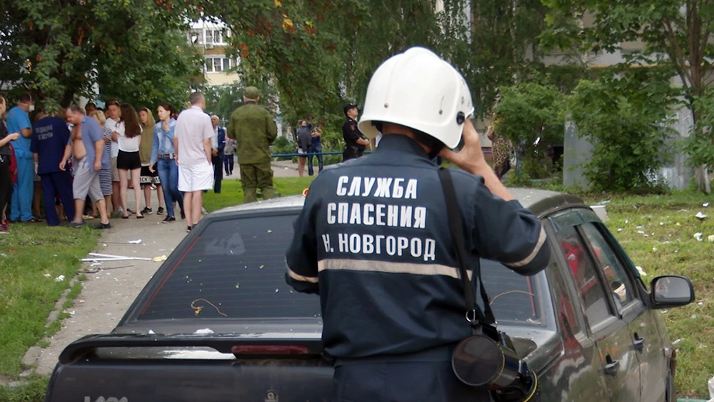 Сотрудники МЧС Нижнего Новгорода