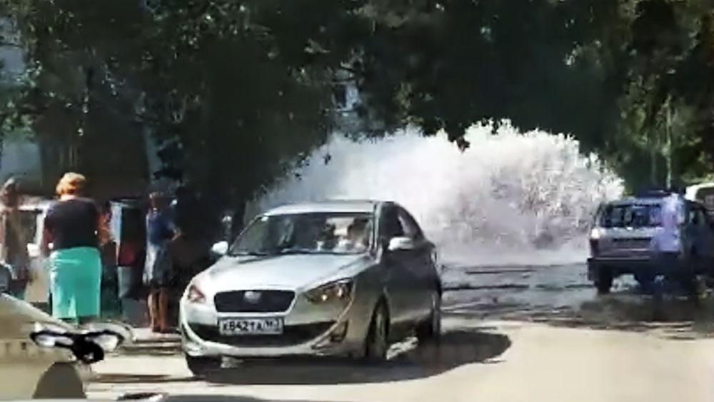 Прорыв трубы в Самаре