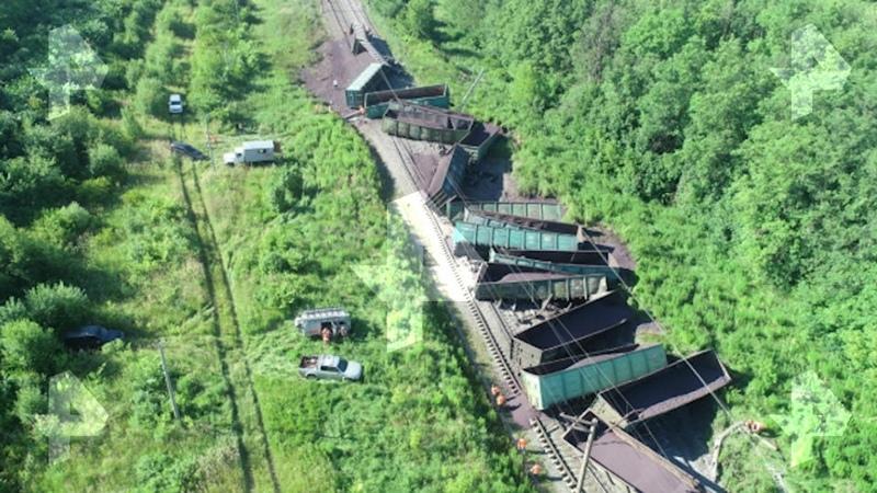 Авария поезда под Тулой