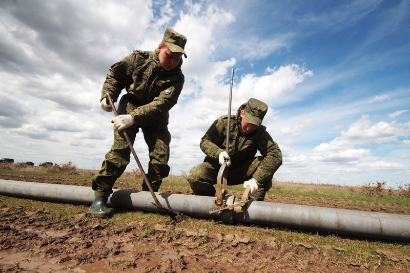 Укладка трубопровода