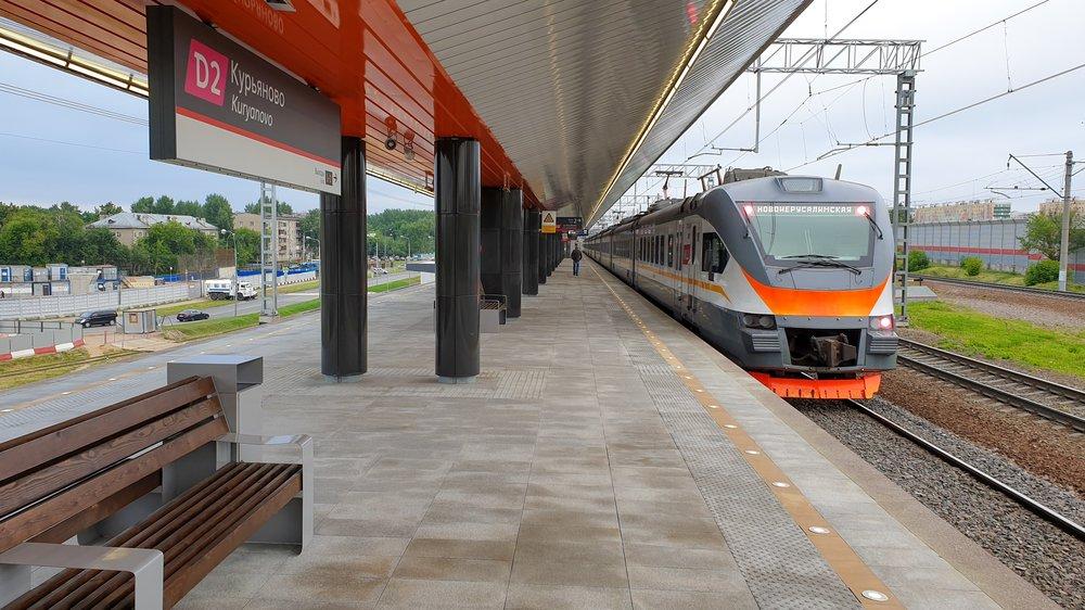 """Открывшаяся для пассажиров станция """"Курьяново"""" МЦД-2"""