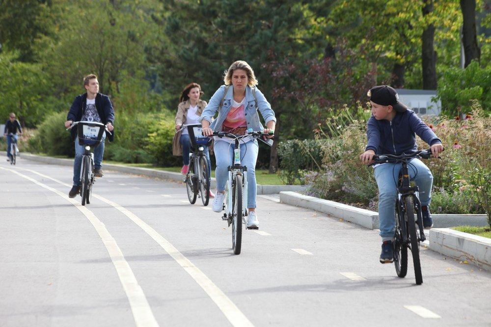 Велодорожки на улицах Москвы