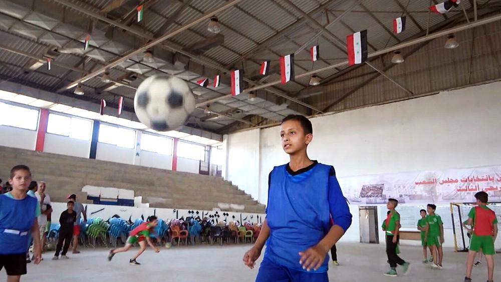 Детская спортивная школа в Сирии