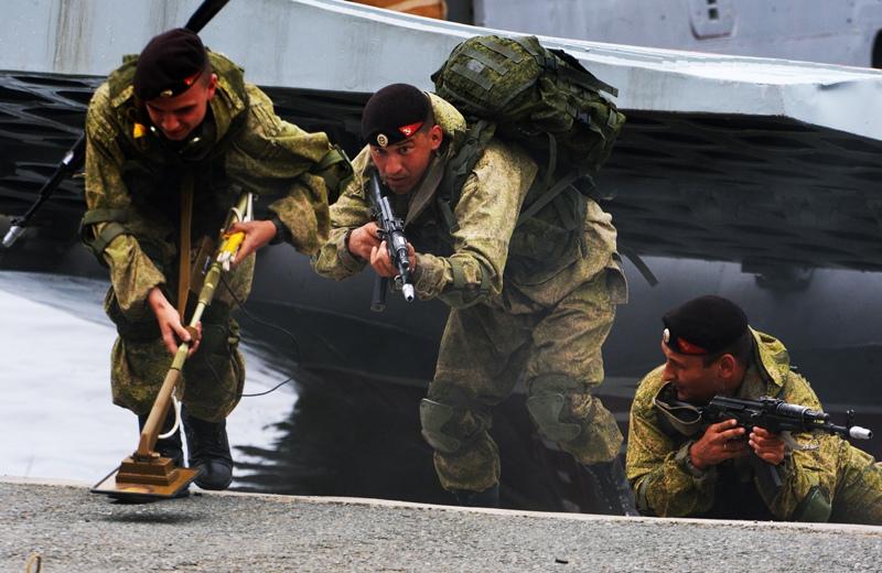 Высадка подразделения морской пехоты