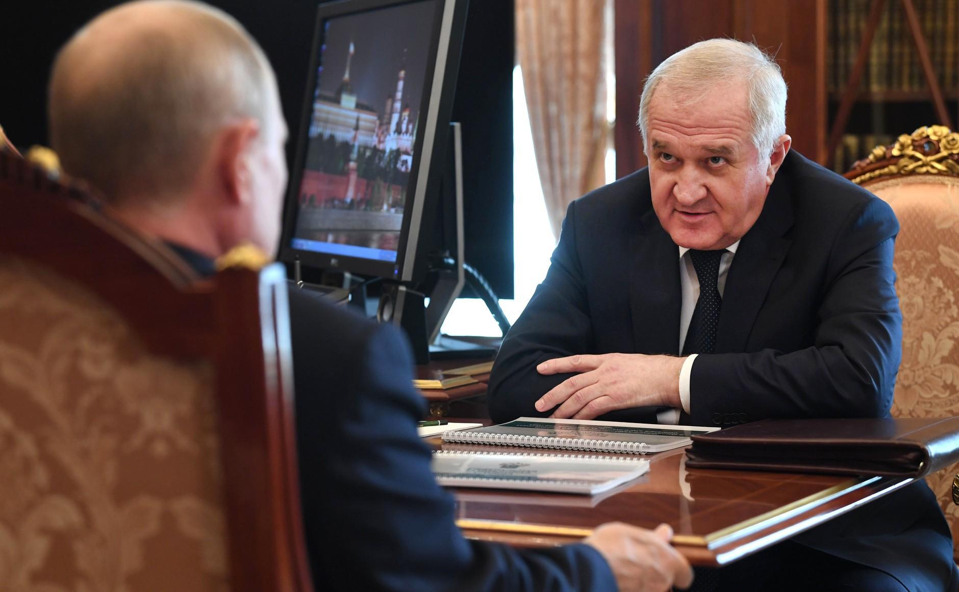 Владимир Путин и Владимир Булавин